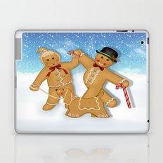 Gingerbread Family Winter Fun Laptop & iPad Skin