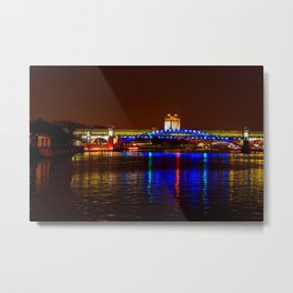 Andreevsky Bridge Over The Moscow River Metal Print