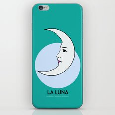 La Luna Mexican Loteria Card iPhone & iPod Skin
