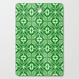 Moroccan Tile, Emerald and Pastel Green Cutting Board
