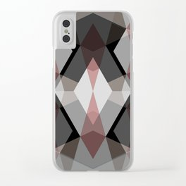 Rhombus Pattern Clear iPhone Case
