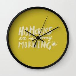Mercy Morning x Mustard Wall Clock
