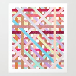 Structural Weaving Lines Art Print