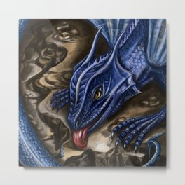 Azure dragon Metal Print