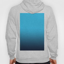Simply fresh teal blue color gradient - Mix and Match with Simplicity of Life Hoody