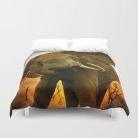 mad Duvet Covers featuring Mad Elephant by minx267