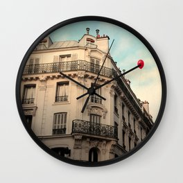 Balloon Rouge Wall Clock