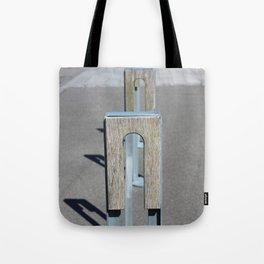 Steel, asphalt and wood Tote Bag