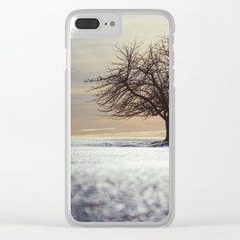 Winter Sunlight Clear iPhone Case