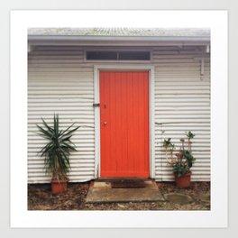 Orange Door Art Print