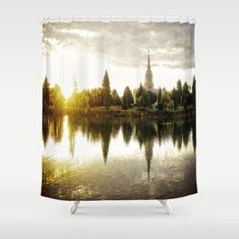 Idaho Falls Temple - Sunrise Shower Curtain