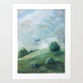 original vintage landscape painting number 11 Art Print
