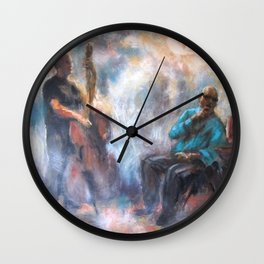 Paintings of jazz bands Wall Clock