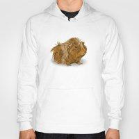 guinea pig Hoodies featuring grumpy old guinea pig  by Devon Busby Busbyart