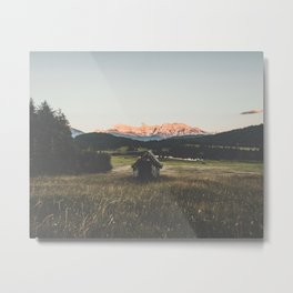 Cabine In The Field Metal Print