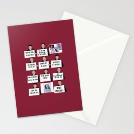 love actually Stationery Cards