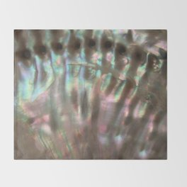 Shimmery Greenish Pink Abalone Mother of Pearl Throw Blanket