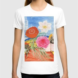 Red Poppies, Calla Lilies, Peonies & NYC Family Portrait by Florine Stettheimer T-shirt