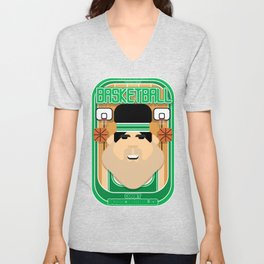 Basketball Green - Court Dunkdribbler - Victor version Unisex V-Neck