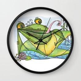Frog with curls – Lockenfrosch Wall Clock