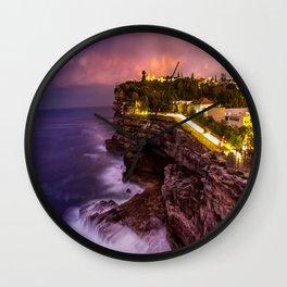 The amazing sunset at Watson Bay Wall Clock