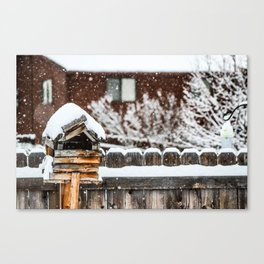 Snow House Canvas Print