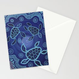 Aboriginal Art Authentic - Sea Turtles Stationery Cards