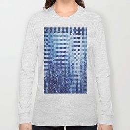 Nautical pixel abstract pattern Long Sleeve T-shirt
