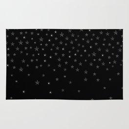 Black Stars Rug