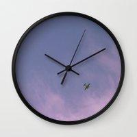 plane Wall Clocks featuring Plane by @thomhanx