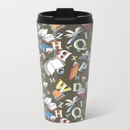 Books and Letters Metal Travel Mug