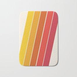 Cool Beans - 70's retro throwback art stripes motif decor hipster Bath Mat