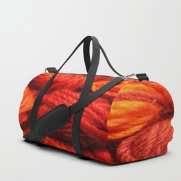 Many Balls of Wool in Shades of Red #society6 #decor #buyart Duffle Bag