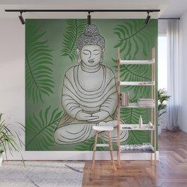 Buddha in the Garden Wall Mural
