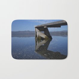 Transparent lake Bath Mat