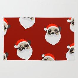 Santa Pugs Rug