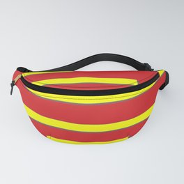 Bright Red and Bright Yellow Graphic Design Fanny Pack