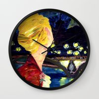 les mis Wall Clocks featuring Enjolras in Paris les mis by Pruoviare