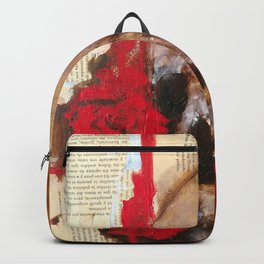 Skull and red roses Backpack