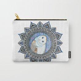 Winter Barn Owl Mandala Carry-All Pouch