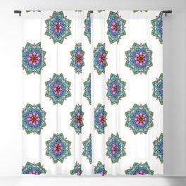 Colourful Botanical Mandala Blackout Curtain