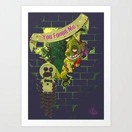 We Love Springtrap Art Print