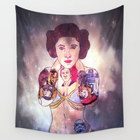 leia Wall Tapestries featuring Leia by Artistic