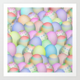 Pastel Colored Easter Eggs Art Print