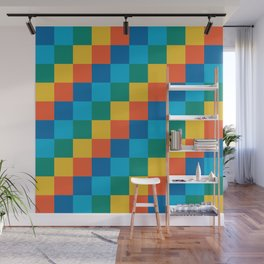 Color me happy - Pixelated Pattern in bright colors Wall Mural
