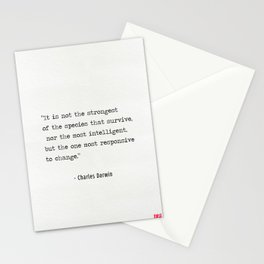 Charles Darwin quote Stationery Cards