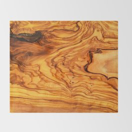 olive tree wood Throw Blanket