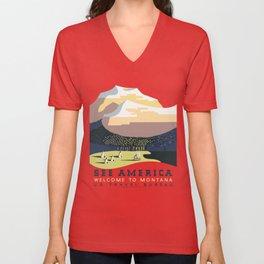 See America - Montana 2 Unisex V-Neck