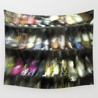 shoes Wall Tapestries featuring Shoes by Camille's Images