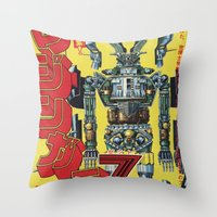 manga Throw Pillows featuring Manga 01 by Zuno